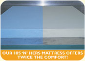 A his-n-hers foam mattress