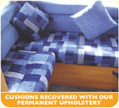 We also offer permanent upholstery and reupholstey services